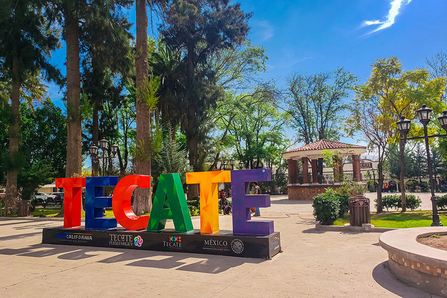 Tecate City Sign